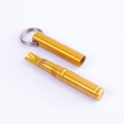 Zeckstick aus Aluminium in Gelb